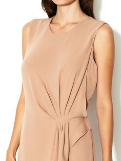 Silk Pleated Flutter Front Dress by Giorgio Armani at Gilt