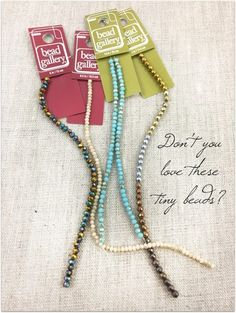 Love these tiny beads!