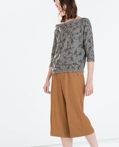 Now here's a beautiful holiday sweater! EMBROIDERED SWEATER from Zara