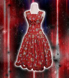 Chiringo's Hello Kitty dress for a classic lolita or a sweet lolita. www.chiringo.fi 110 euros+posting  #lolita #sweetlolita #classiclolita #hellokitty #lolitafashion
