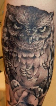 realistic owl tattoos - Google Search