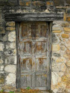 Mission Nuestra Señora de la Purísima Concepción de Acuña , San Antonio Missions National Historical Park, San Antonio, Texas - A door to one of the many rooms found at the mission.