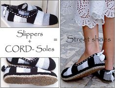 Ravelry: PACKAGE for CORD-Soles / Sole Treatment / Slippers - Turn home slippers into street shoes pattern by Ingunn Santini