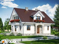 Dom w rododendronach 6 Simple House Plans, House Floor Plans, My Ideal Home, One Story Homes, Indian Homes, Villa Design, Tiny House Design, Cottage Homes, Little Houses