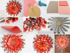 Giant Paper Dahlia Wreath | DIY Cozy Home