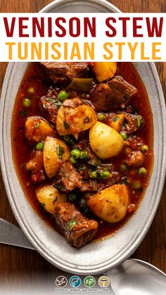 Venison stew is a standard in my home, and I make many varieties. This one, inspired by the flavors of Morocco and North Africa, is one of my favorites. If that sounds exotic, it mostly isn't. Virtually everything you need to make this recipe you already have, or is easily found in the supermarket. I first made this venison stew from a whitetail doe I shot in an alfalfa field in northern Wyoming. | @huntgathercook #hankshaw #howtomakevenisonstew #easyvenisonstew #deerhunting Recipes For Venison Stew, Venison Meat, Crockpot Recipes, Fall Recipes, Dinner Recipes, Dinner Ideas, Vegan Recipes, Deer Meat, North Africa