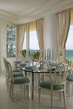 Regis Bal Harbour: For Discerning Travelers Indifferent to the South Beach Party Scene - Leading Hotels Online House, Interior, Chic Interior Design, Dining Room Design, Elegant Homes, Home Deco, Luxury Interior Design, Interior Design, Interior Design Firms