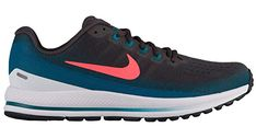 e6ec520d0b6b5 NIKE Men s Air Zoom Vomero 13 Running Shoe Thunder Grey Hot Punch Geode  Teal White Size 11.5 M US