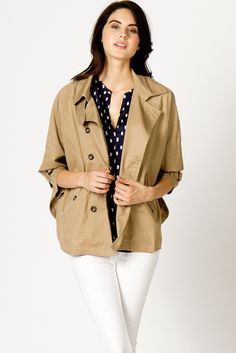 A-Thread Cape Trench Coat