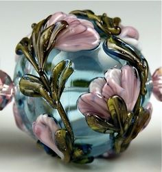 Rose on Turquoise | Andie's Glass | Andree Kosak