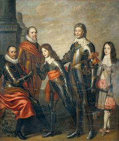 Attributed to Pieter Nason (fl.1632-90) (formerly attributed to Willem van Honthorst*1594+1666 court painter of Louise Nassau sister of Willem II.) Four generations of princes Orange___#William I Father of the nation_Silent*1533-84 (1559-84Stadtholder #Maurice Prince of Orange *1567+1625 (1585-1625Stadtholder,son of William I.#Frederick Henry*1584+1647 (1625-47Stadtholder,son of William I. #William II.*1626-50 (1647-50Stadtholder,son of Frederick Henry#William III.*1650+1702…