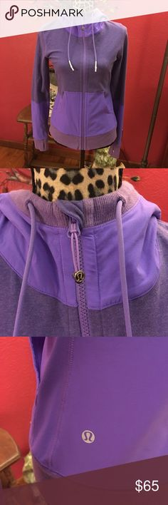 Lululemon zip up Lululemon purple zip up hoodie. With thumb holes. Size 6 lululemon athletica Tops Sweatshirts & Hoodies