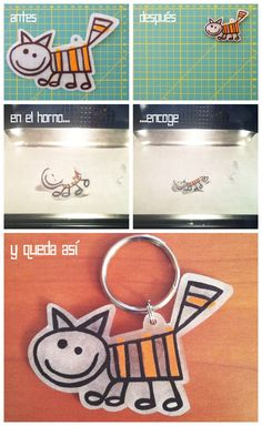 Cute idea to copy kids art work to shrinky dink's and make key chains, or you could put these on your purse handle-so you always see it. Adult Crafts, Diy And Crafts, Crafts For Kids, Arts And Crafts, Diy Agenda, Agenda Planner, Shrink Art, Purse Handles, Shrinky Dinks