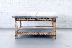 zinc coffee table | Patina