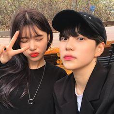 Couple Ulzzang, Korean Boys Ulzzang, Ulzzang Korea, Cute Korean Girl, Ulzzang Girl, Korean Best Friends, Boy And Girl Best Friends, Cute Couples Goals, Cute Anime Couples