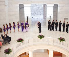 Real Wedding: Held at the Arkansas State Capitol building in Little Rock, the wedding of Miss Arkansas 2009, Sarah Slocum and Ryan Collins was a grand affair in May 2011.