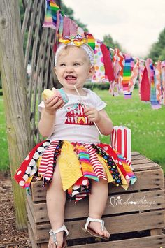 Fabric Tutu Under The BIG TOP circus birthday by ChicSomethings, $32.00