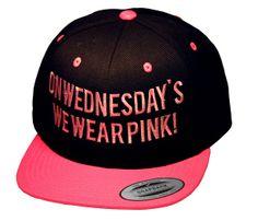 On Wednesday's we Wear Pink Snapback | fresh-tops.com