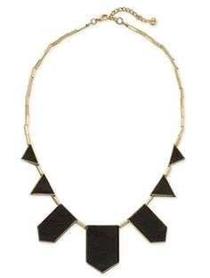$75 House of Harlow necklace.  I like the geometric shapes and the black and gold.