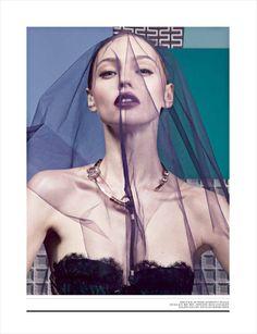Sasha Pivovarova for Interview Magazine - Fashion | Popbee