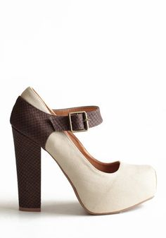 Deadly Sin Platforms - $48.00 : heels, shoes, brown, cream, Free-spirited fashion for the indie-inspired lifestyle