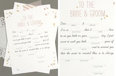 FREE printable wedding day mad libs!  Could make an awesome guest book!