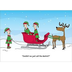 Dental Dilemma Christmas Card #dentist #teeth