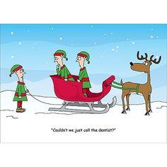 Dental Dilemma Christmas Card #dentist #teeth