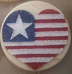 Show your patriotism with unique handmade string art on real wood. Perfect for hanging on your wall or displaying on counter tops or shelves. This