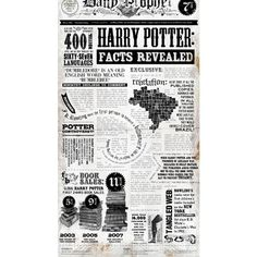 Harry Potter Facts Revealed [Infographic] ❤ liked on Polyvore featuring harry potter, backgrounds and text