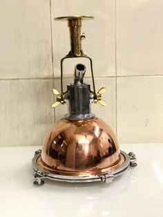 Nautical New Aluminum Brass & Copper Smooth Cargo Pendant ship Ceiling Light Brass Pendant Light, Brass Sconce, Kitchen Pendant Lighting, Ceiling Pendant, Pendant Lights, Mumbai, Ceiling Light Fixtures, Ceiling Lights, Nautical Lighting
