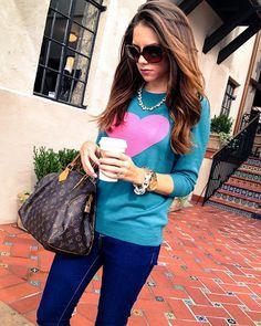 J Crew Heart Sweater <3