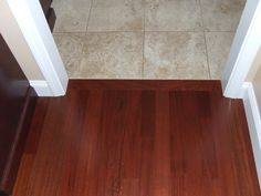 Flooring transitions are the key to a great looking DIY floor installation. This article shows you how to deal with the most common flooring transitions. Cork Flooring, Kitchen Flooring, Flooring Ideas, Kitchen Tiles, Transition Flooring, Kitchen Colors, New Kitchen, Custom Homes, Home Remodeling
