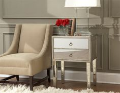 Garbo Mirrored Side Table eclectic side tables and accent tables