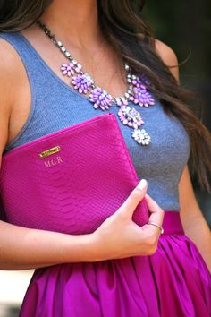 Gorgeous monogrammed clutch http://rstyle.me/n/bak5nnyg6
