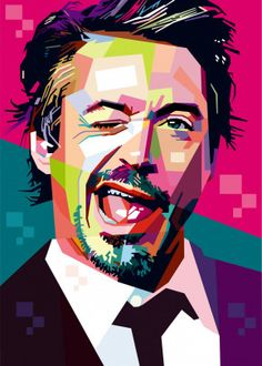 "Beautiful ""robert downey jr"" metal poster created by Capung Studio. Our Displate metal prints will make your walls awesome. Pop Art Posters, Poster Prints, Art Prints, Pop Art Artists, New Artists, Pop Art Portraits, Portrait Art, 3d Wall Art, Vector Portrait"