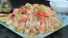 Pad Thai Жареная лапша Пад Тай с креветками рецепт видео Рецепт тайской ...