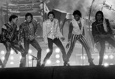Michael Jackson and brothers on the Victory Tour!  Nick and I took his younger brothers with us to Arrowhead Stadium in Kansas City, MO! Michael at his peak!!!
