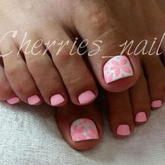 Nageldesign New Pedicure Designs Toenails Winter Nail Polish 61 Ideas Wedding Planning Advice - How Pretty Toe Nails, Cute Toe Nails, Fancy Nails, Toe Nail Art, My Nails, Pink Toe Nails, Shellac Pedicure, Pedicure Colors, Nail Colors