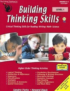 This is a very complete thinking skills program, covering all of the figural and verbal skills your children are likely to see on a standardized test. The publisher, Critical Thinking Press, states that Building Thinking Skills is Improve Vocabulary, Academic Vocabulary, Higher Order Thinking, Critical Thinking Skills, Homeschool Curriculum, Homeschooling Statistics, Online Homeschooling, Communication Skills, Kids Learning
