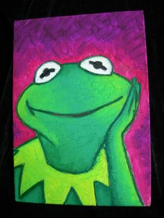 Kermit The Frog oil painting