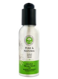 Gentle Face Wash For Sensitive Skin. Rose and Comfrey gentle facial wash for those with very sensitive skin which can be highly reactive and prone to redness. Facial Wash, Allergies, Sensitive Skin, Hair Care, Pure Products, Rose, Pink, Hair Care Tips, Hair Makeup