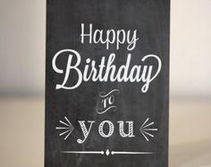 happy birthday chalkboard art - Google Search