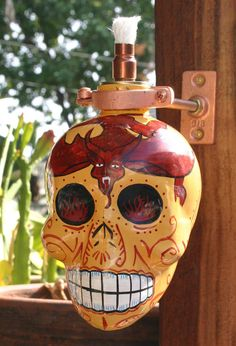 KAH Reposado Skull Tequila Tiki Torch / Oil Lamp by JadaNJace