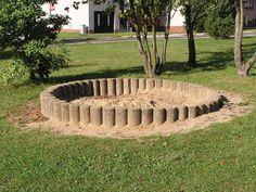 kruhové pískoviště