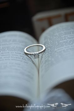 Ring on Bible - LOVE