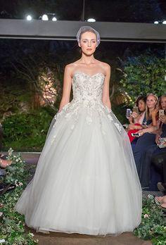 Brides: Enzoani Wedding Dresses - Spring 2016 - Bridal Runway Shows - Brides.com