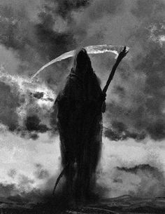 Scorpion, now the eldest son of hades. Death Reaper, Grim Reaper Art, Grim Reaper Tattoo, Don't Fear The Reaper, Arte Horror, Horror Art, Reaper Drawing, Scary Wallpaper, Monster Hunter