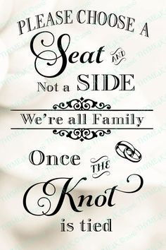 """Cutting File SVG """"Please choose a Seat not a Side"""" Quote Instant Download - Wedding by Thyme4K on Etsy"""