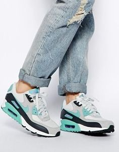 the best attitude 10bf1 c30b3 Nike - Air Max 90 Essential - Gris menthe Air Max Nike Mujer, Nike